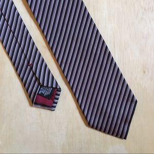 Hugo Boss Black Striped 100% Silk Italian Tie